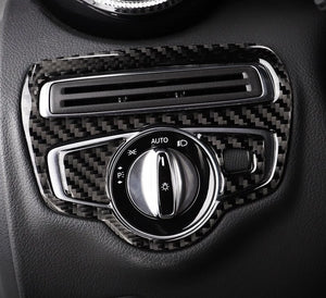 Mercedes-Benz C-Class / GLC Carbon Fiber Headlight Switch Unit
