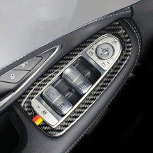 Load image into Gallery viewer, Mercedes-Benz C-Class / GLC Carbon Fiber Window Controls