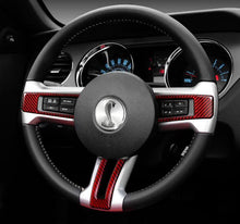 Load image into Gallery viewer, Ford Mustang (2010-14) Carbon Fiber Steering Wheel Trim