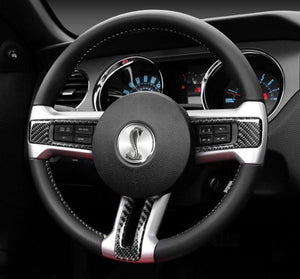 Ford Mustang (2010-14) Carbon Fiber Steering Wheel Trim