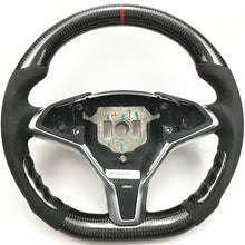 Load image into Gallery viewer, Tesla Model X Carbon Fiber Steering Wheel