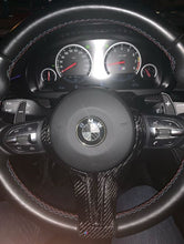 Load image into Gallery viewer, BMW Carbon Fiber M-Sport Steering Wheel Trim