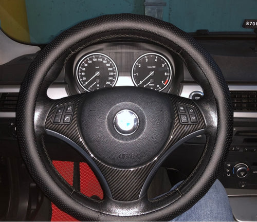 BMW E9X 3 Series Steering Wheel Carbon Fiber Trim