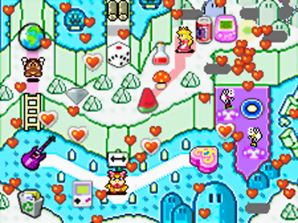 Mario Bros Valentine's Day Map