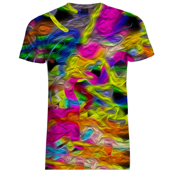 Oil Paint Print Shirt