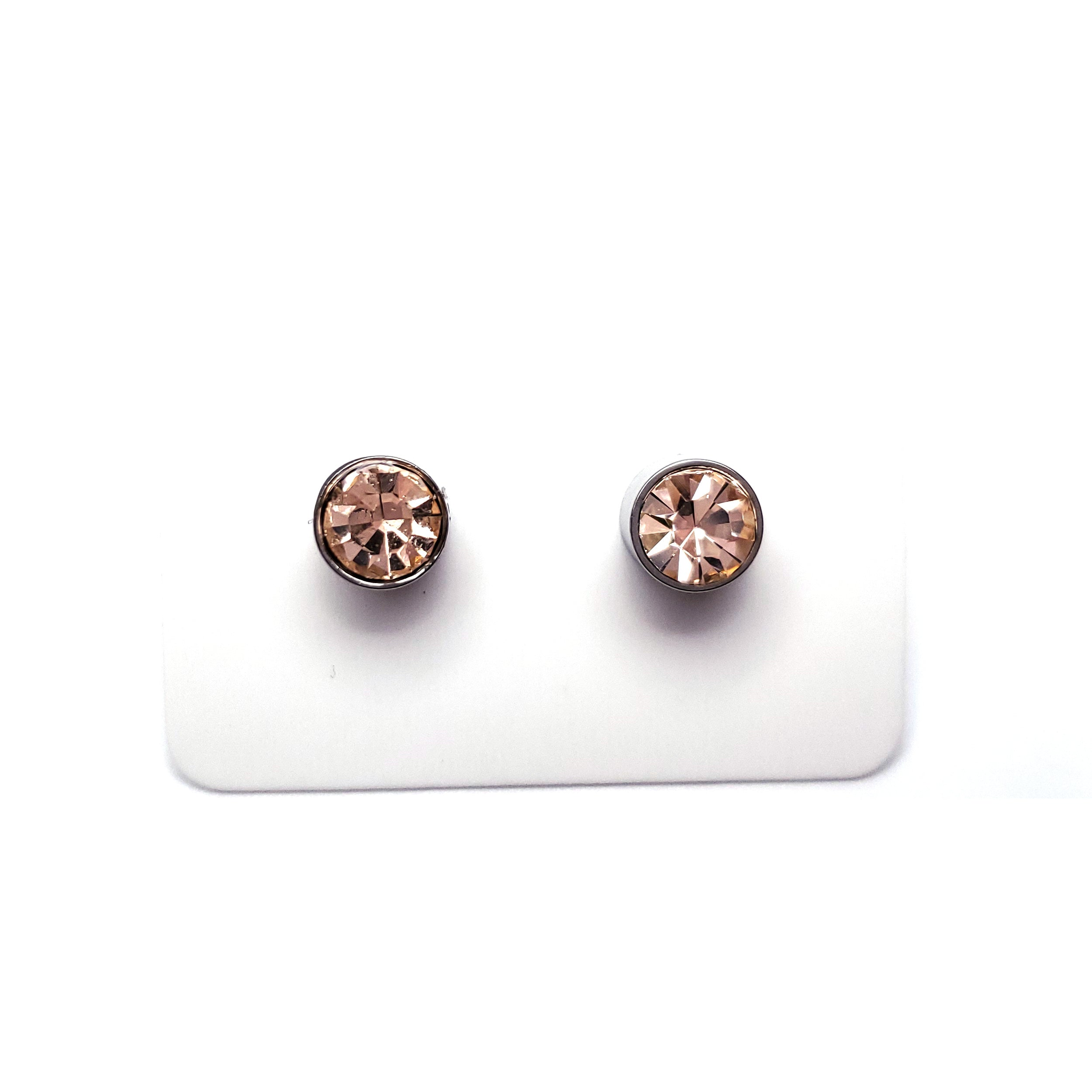 Champagne Magnetic Earrings (6mm)