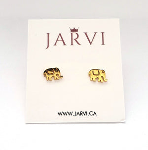 Gold Elephant Stainless Studs