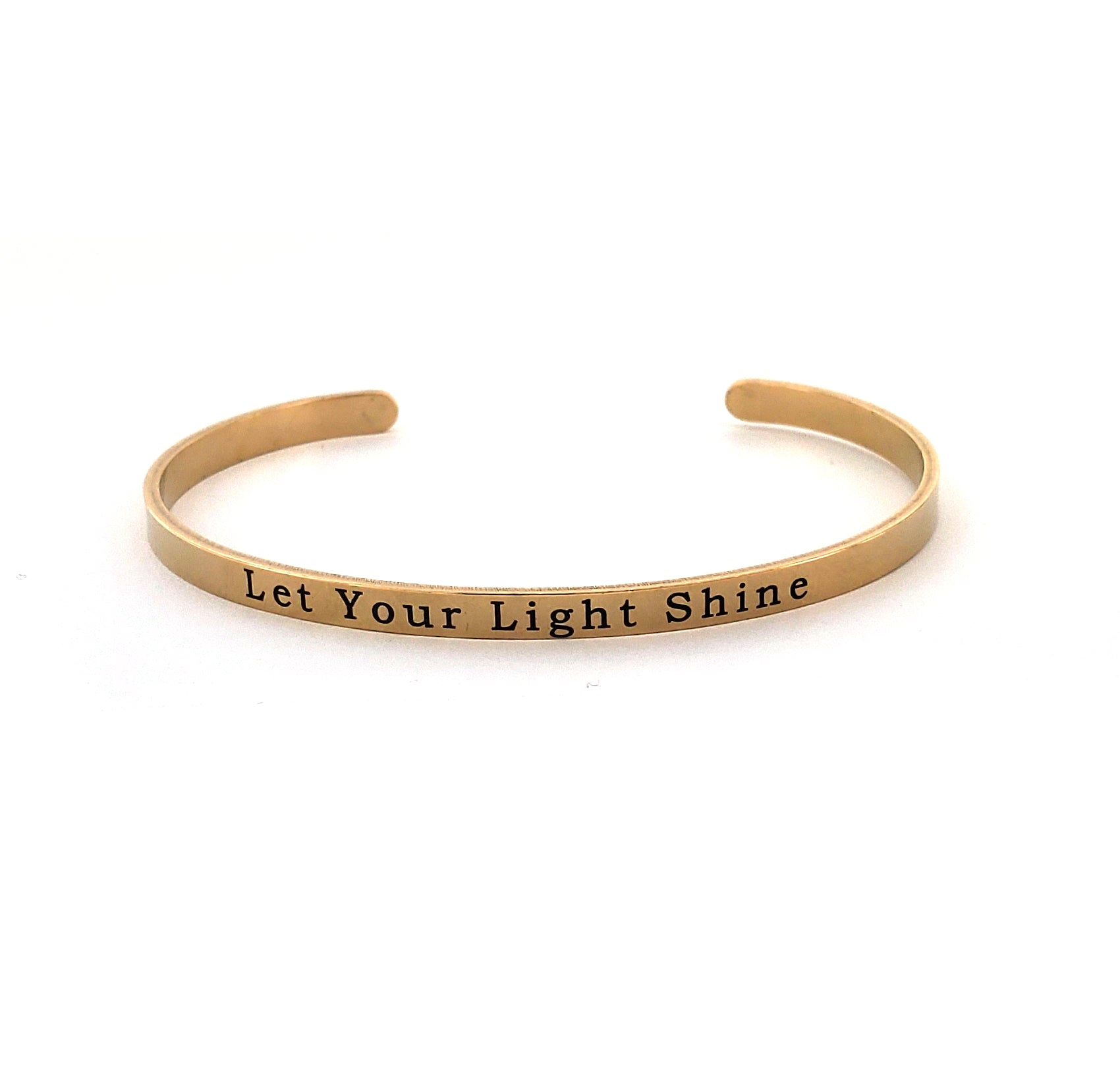 Let Your Light Shine Stainless Bangle