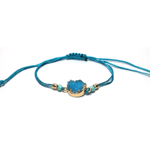 Shop Turquoise Adjustable Braided Bracelet-Jarvi
