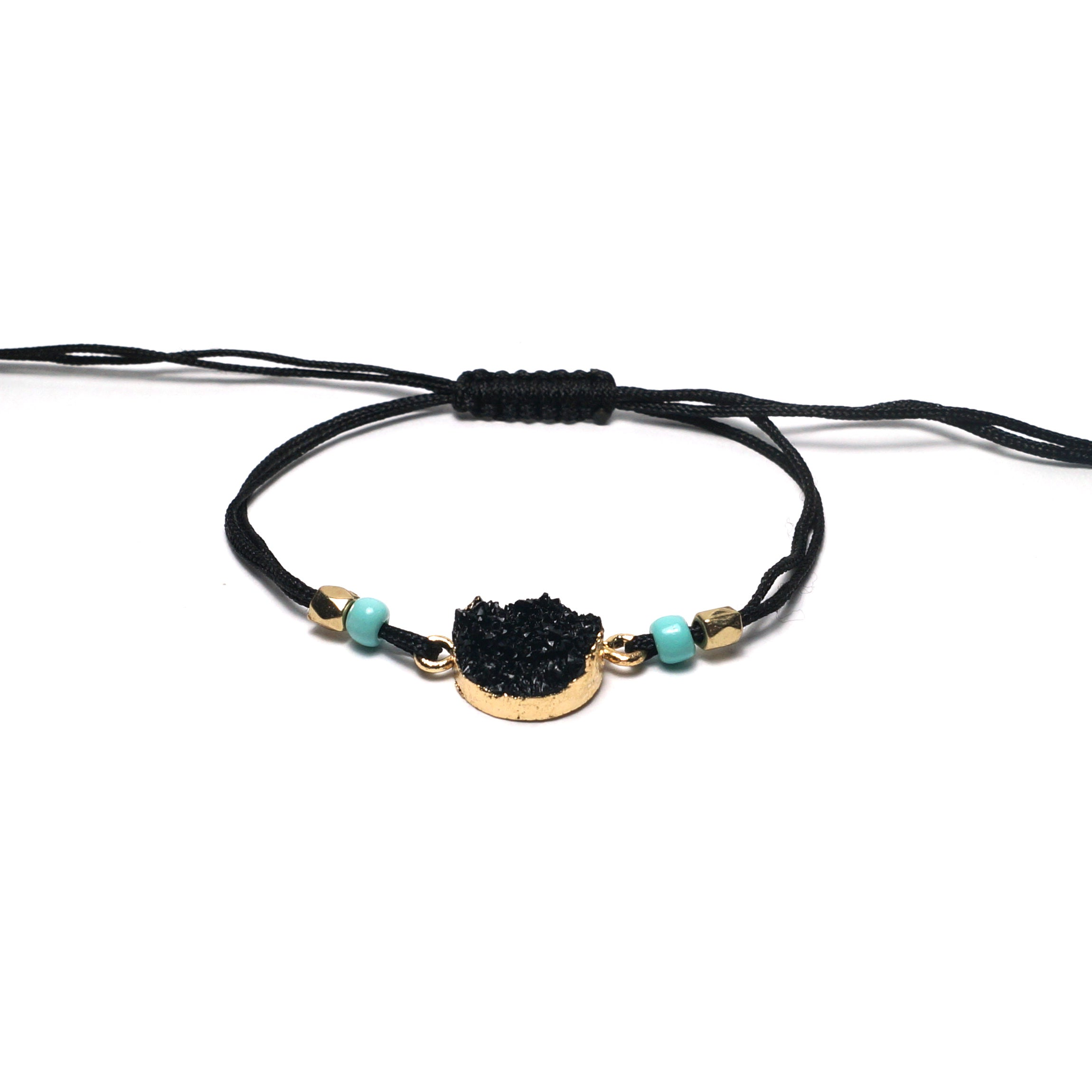 Shop Black Adjustable Braided Bracelet-Jarvi
