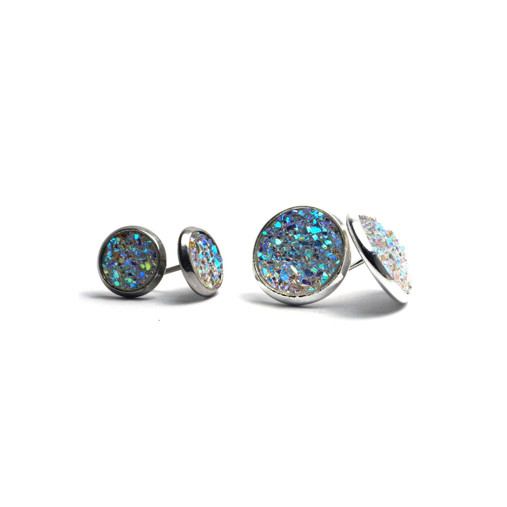 Shop Matching Set White Dove Druzy Stud Earrings-Jarvi