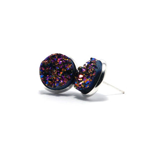 Shop Violet Starling Druzy Stud Earrings (14mm)-Jarvi