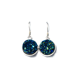 Shop Royal Blue Druzy Drop Earrings (14mm)-Jarvi