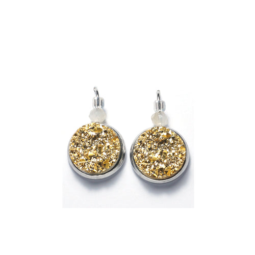 Shop Golden Stainless Steel Drop Earrings (14mm)-Jarvi
