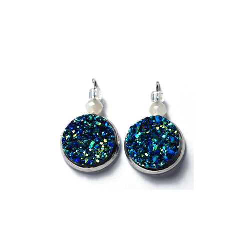 Shop Royal Blue Stainless Steel Drop Earrings (14mm)-Jarvi