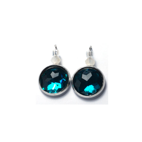 Shop Cyan Stainless Steel Drop Earrings (14mm)-Jarvi