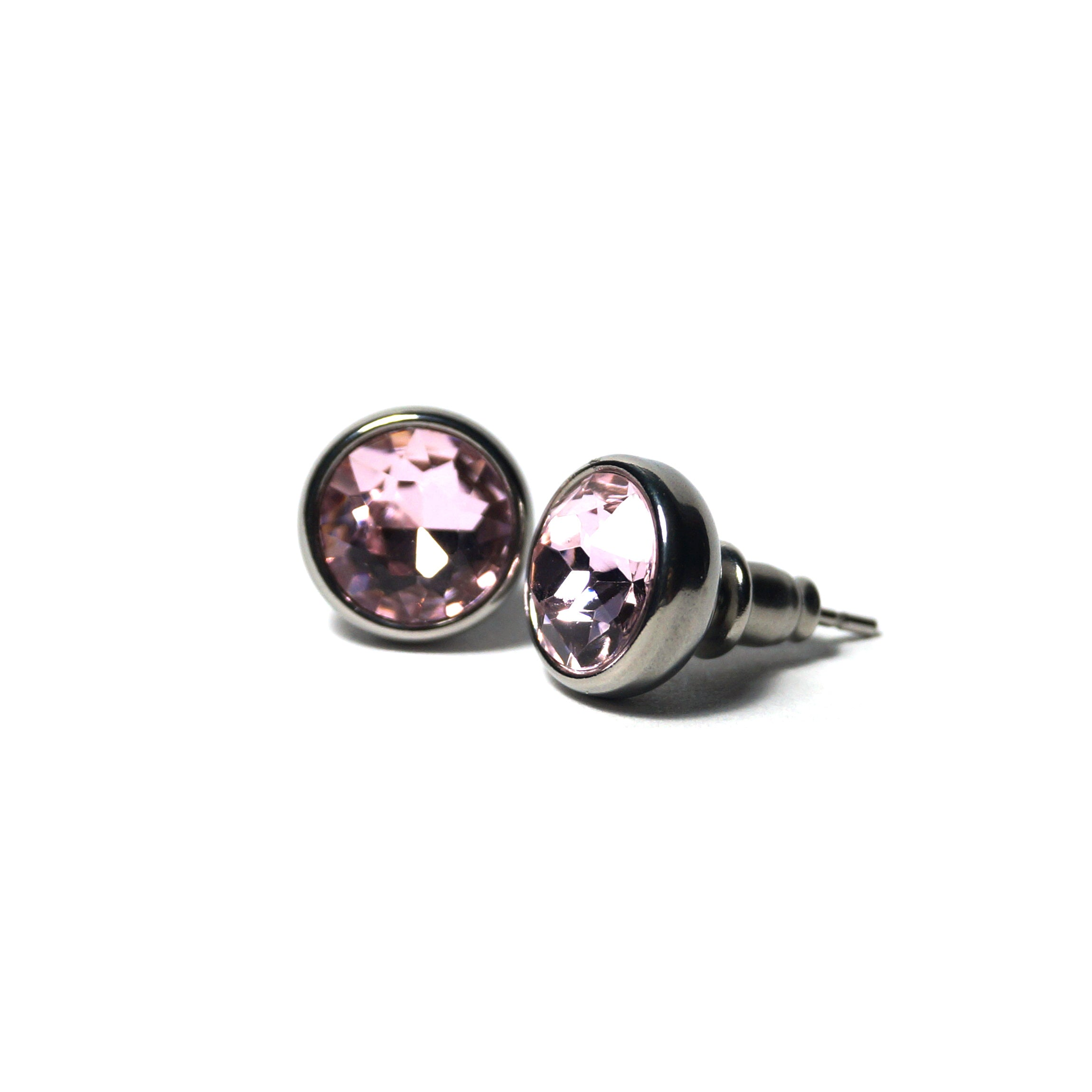 Shop Amethyst Birthstone Stud Earrings (10mm)-Jarvi