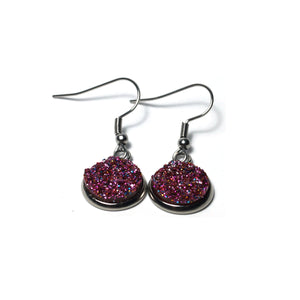 Shop Grape Stainless Steel Drop Earrings (14mm)-Jarvi