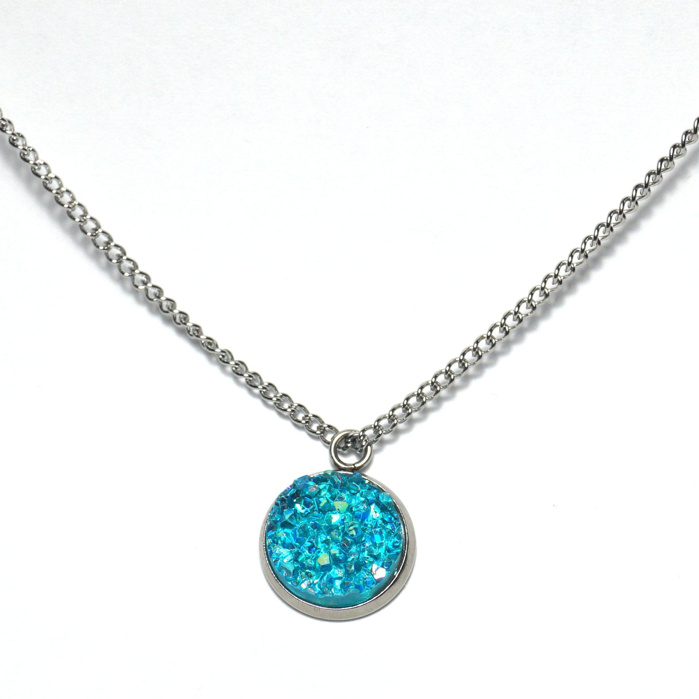 Shop Turquoise Pigeon Druzy Necklace-Jarvi