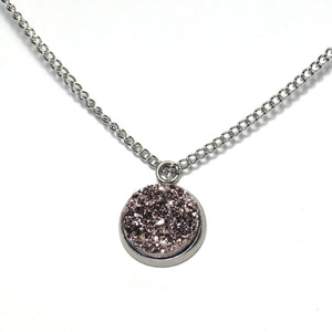 Shop Champagne Druzy Necklace-Jarvi
