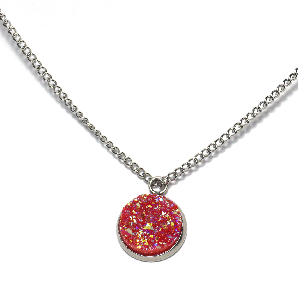 Shop Pink Crossbill Druzy Necklace-Jarvi