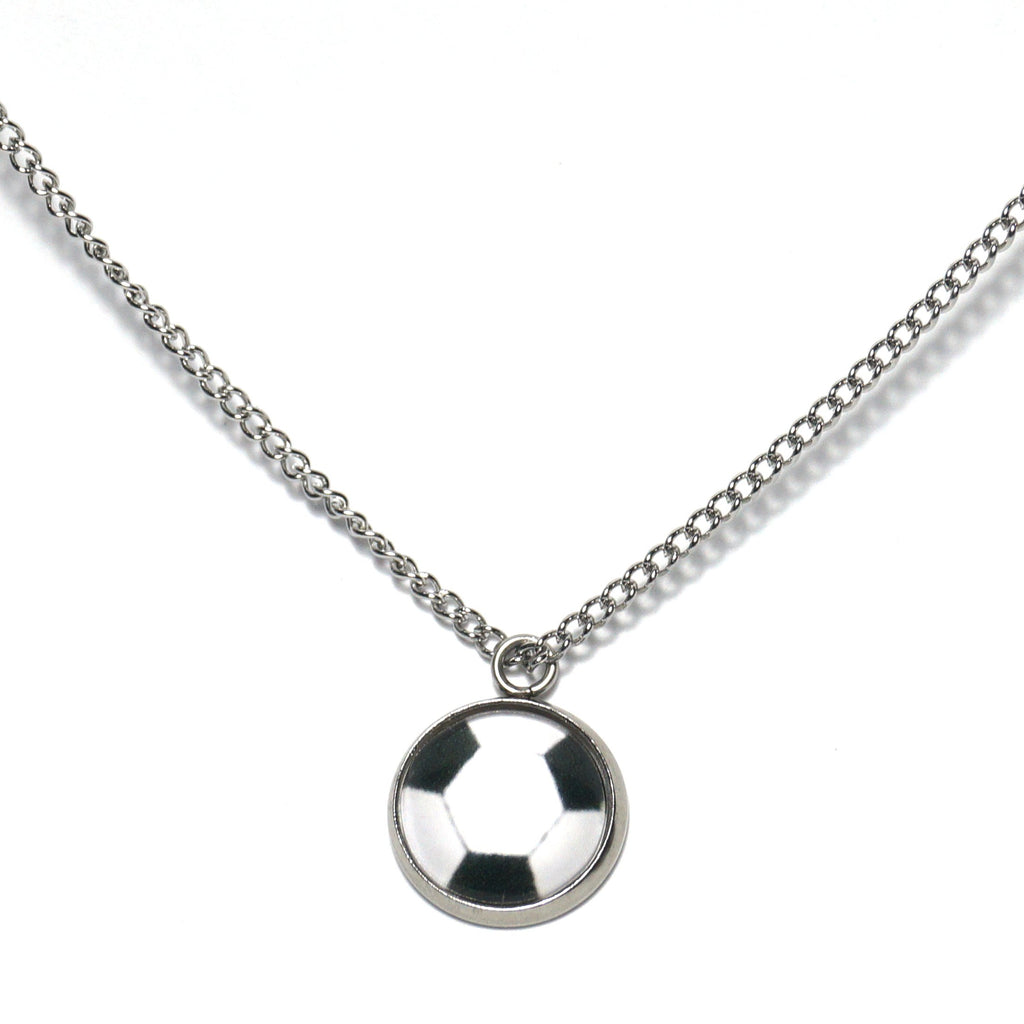 Shop White Football Necklace-Jarvi