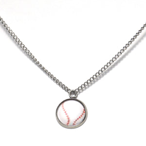 Shop White Baseball Necklace-Jarvi