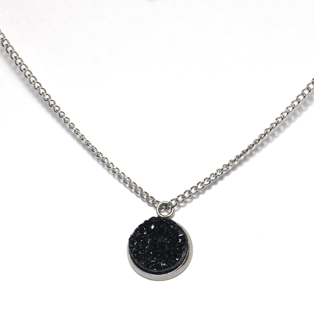 Shop Black Raven Druzy Necklace-Jarvi