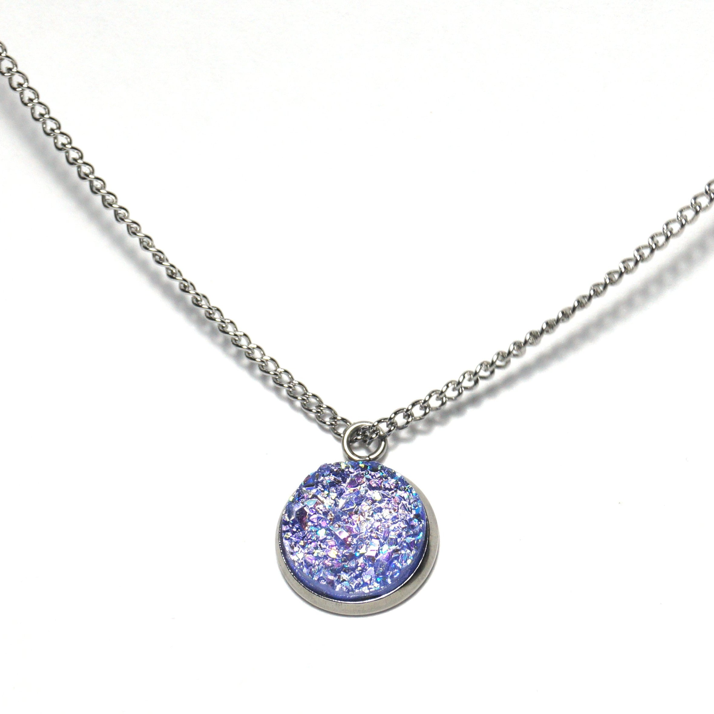 Shop Purple Spoonbill Druzy Necklace-Jarvi