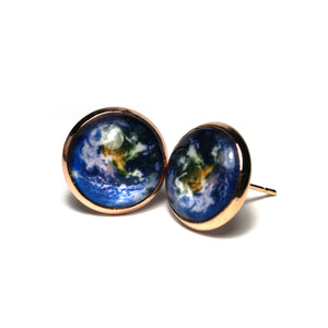 Shop Earth Planet Stud Earrings (14mm)-Jarvi
