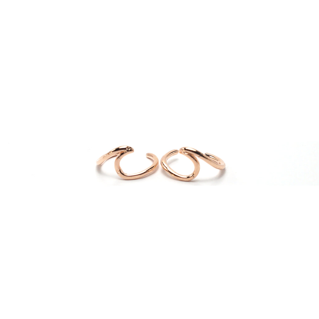 Rose Gold Wave Ear Cuffs