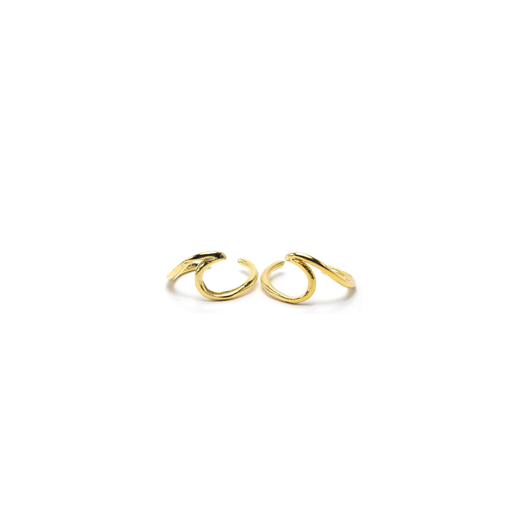 Gold Wave Ear Cuffs