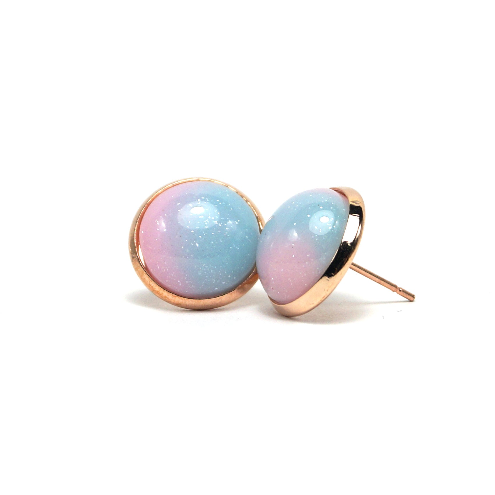 Cotton Candy Stud Earrings (14mm)