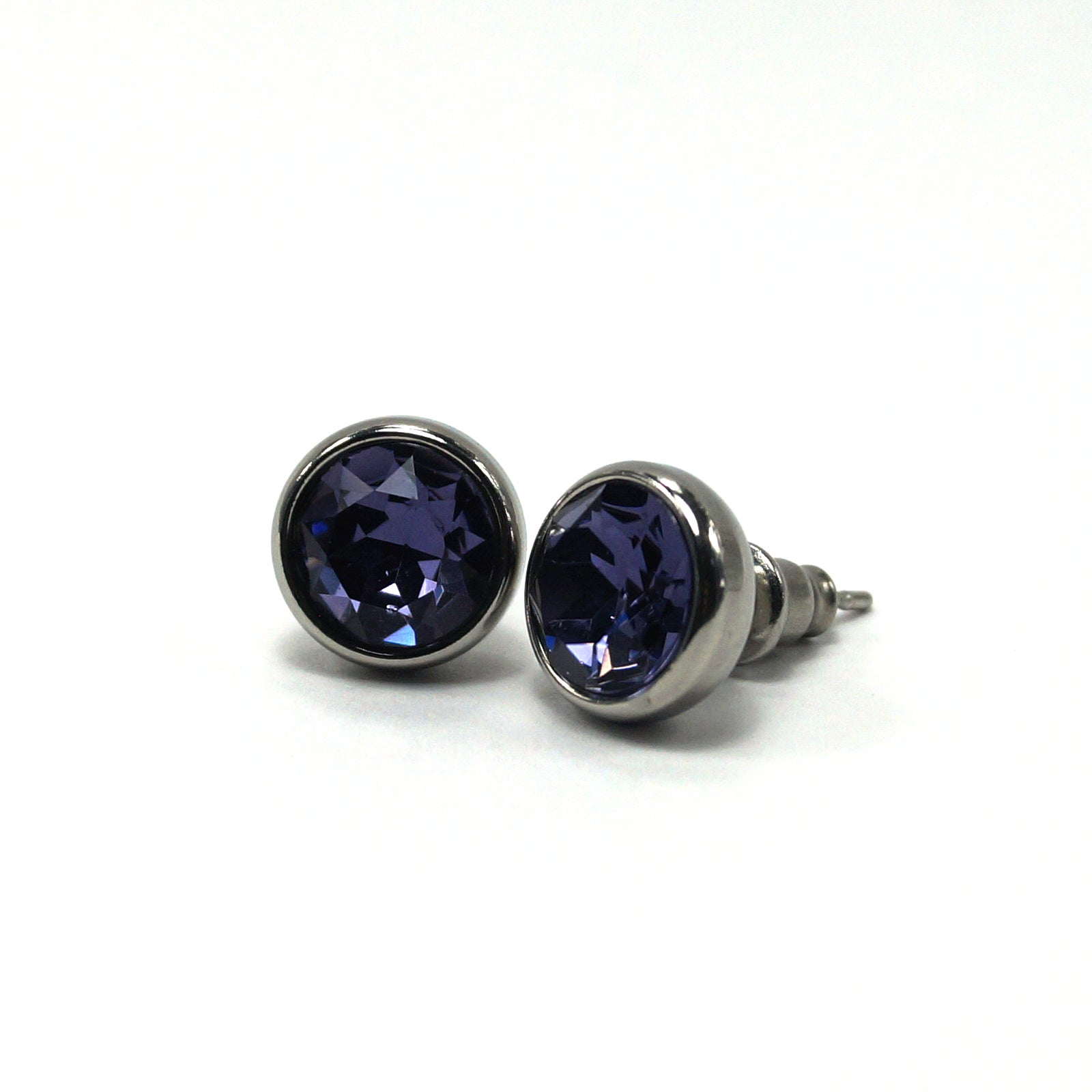 Sapphire Birthstone Stud Earrings (10mm)