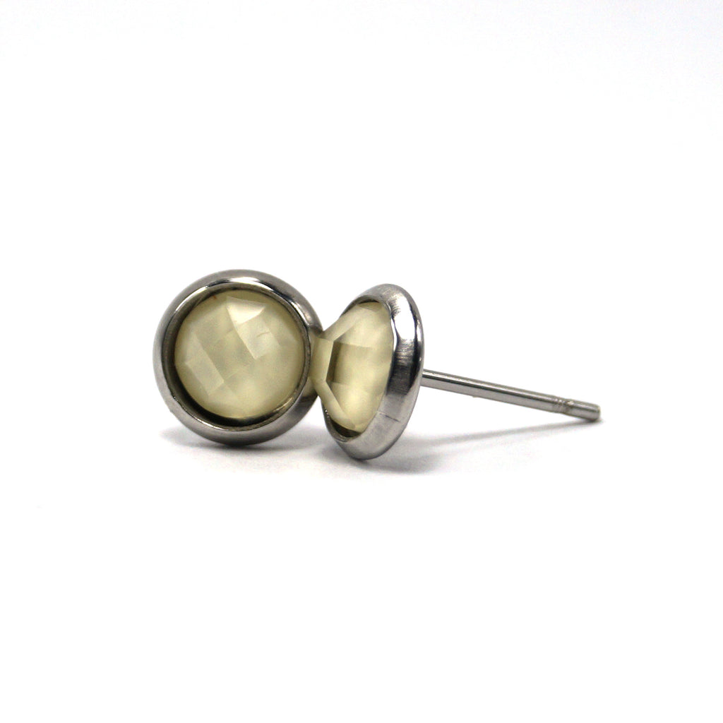 Ivory Hatchling Stud Earrings (8mm)