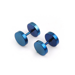 Titanium Steel Dumbbell Earrings (8MM)