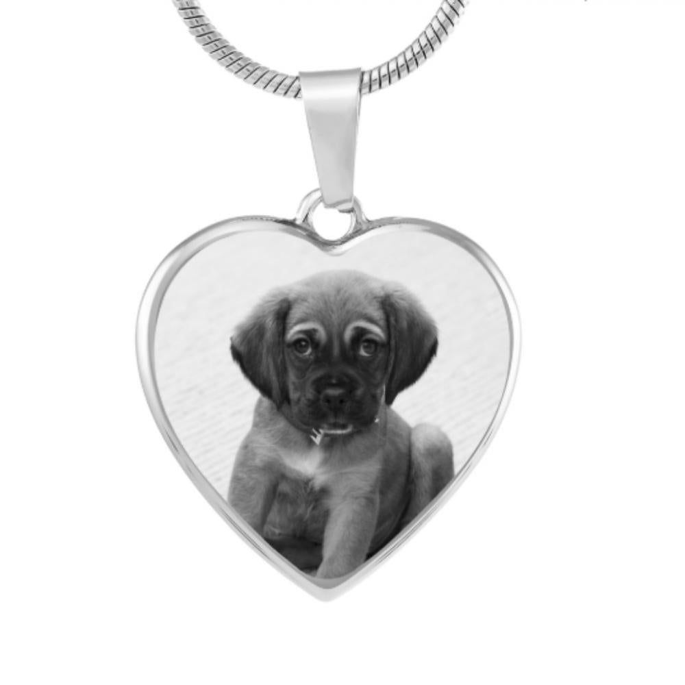 Shop Custom Photo Etched Heart Necklace-Jarvi