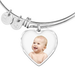 Shop Custom Photo Heart Bangle-Jarvi