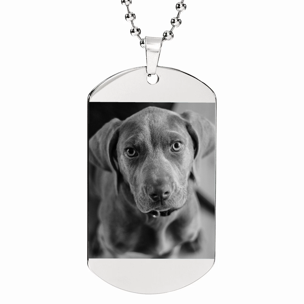 Shop Custom Photo Etched Dog Tag-Jarvi