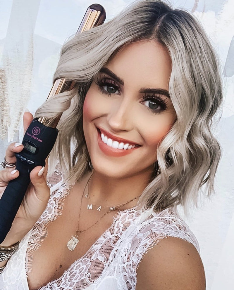 What curling wand or iron size is best for short hair?