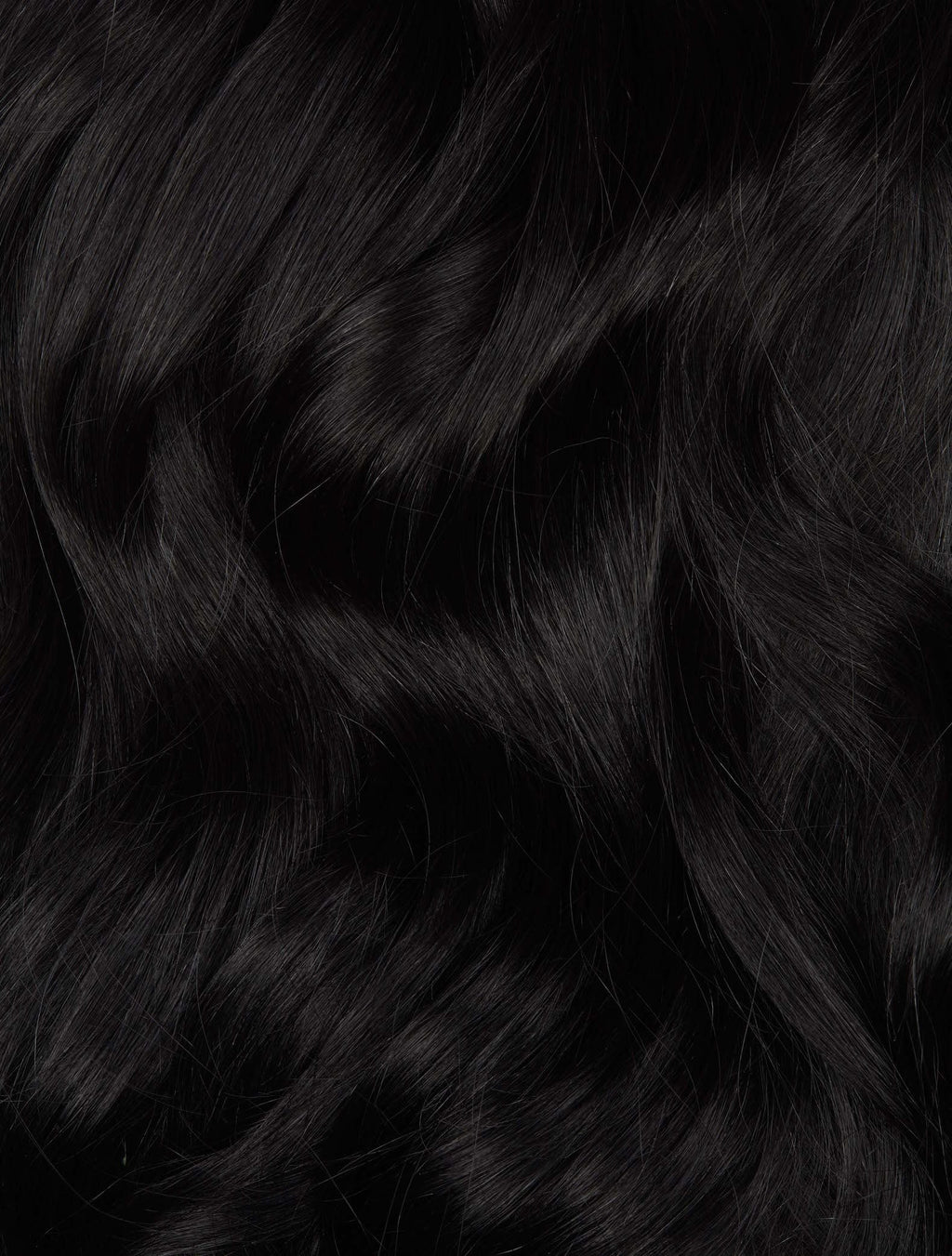 "Jet Black (#1) 20"" I-Tip- ON BACKORDER - BOMBAY HAIR  - I-Tip 20"" 25g"