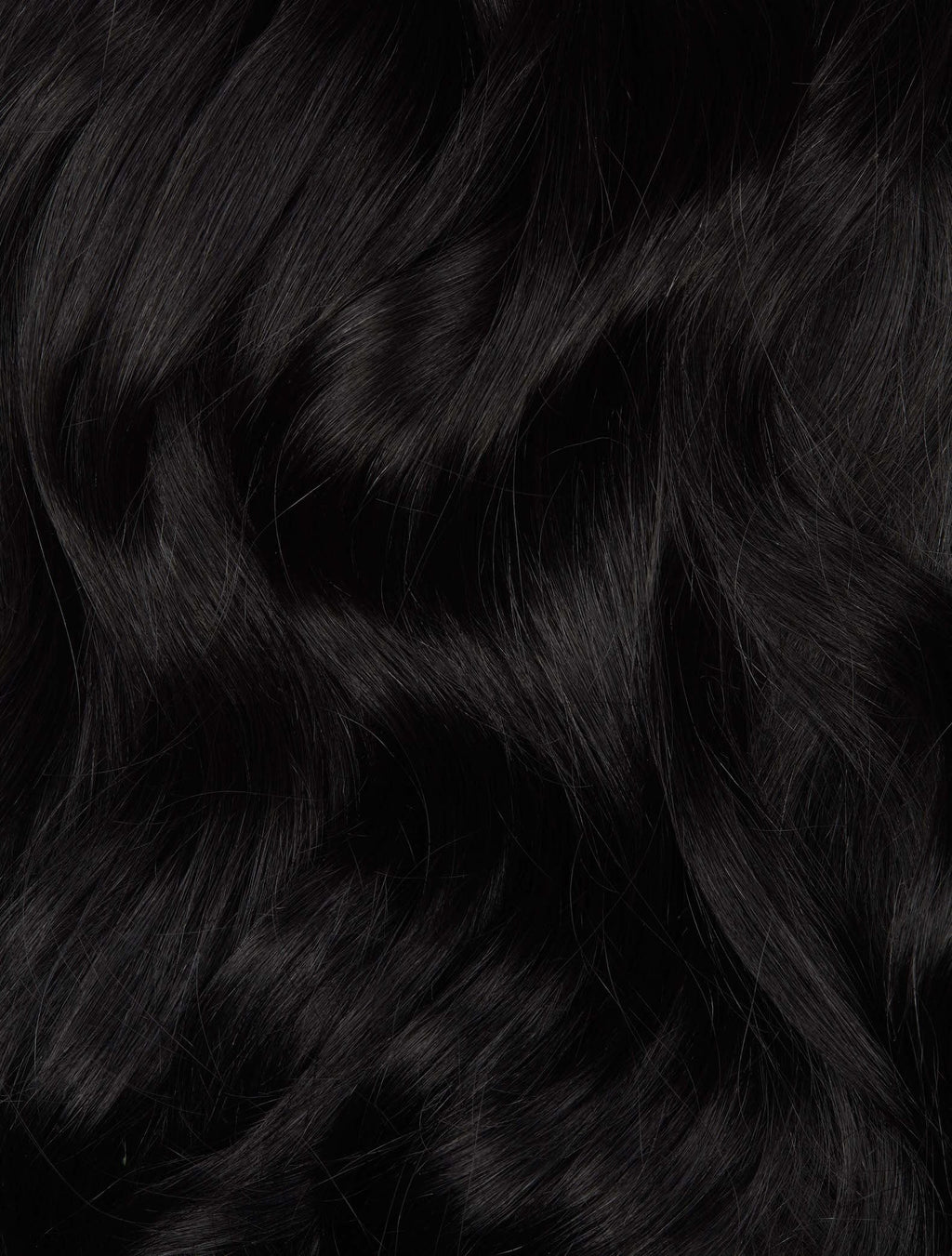 "Jet Black (#1) Hand-Tied Weft (60g) - 22"" (Pre Order Ships Early March)"