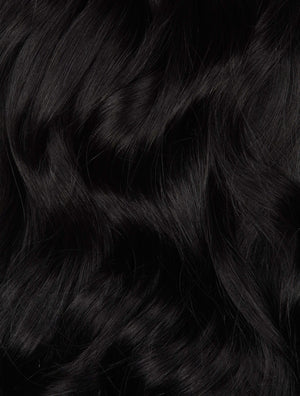 "Jet Black (1) 24"" 270g- ON BACKORDER - BOMBAY HAIR  - 24"" Clip In Extensions"