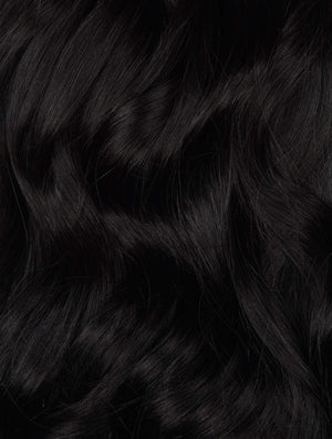 "Virgin Black (#1A) 20"" Keratin Tip- ON BACKORDER - BOMBAY HAIR  - Fusion 20"" 25g"