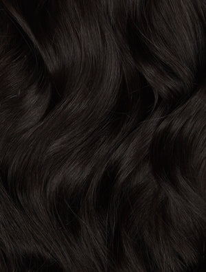 "Off Black (1B) 18"" 125g - BOMBAY HAIR  - 18"" Clip In Extensions"