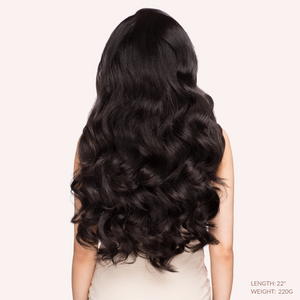 "Off Black (1B) 22"" 270g- ON BACKORDER - BOMBAY HAIR  - Tamanna Clips 22"" 270g"