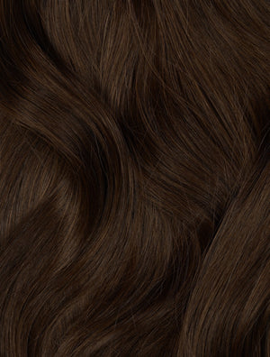 "Dark Brown (2B) 20"" 220g - BOMBAY HAIR  - 20"" Clip In Extensions"