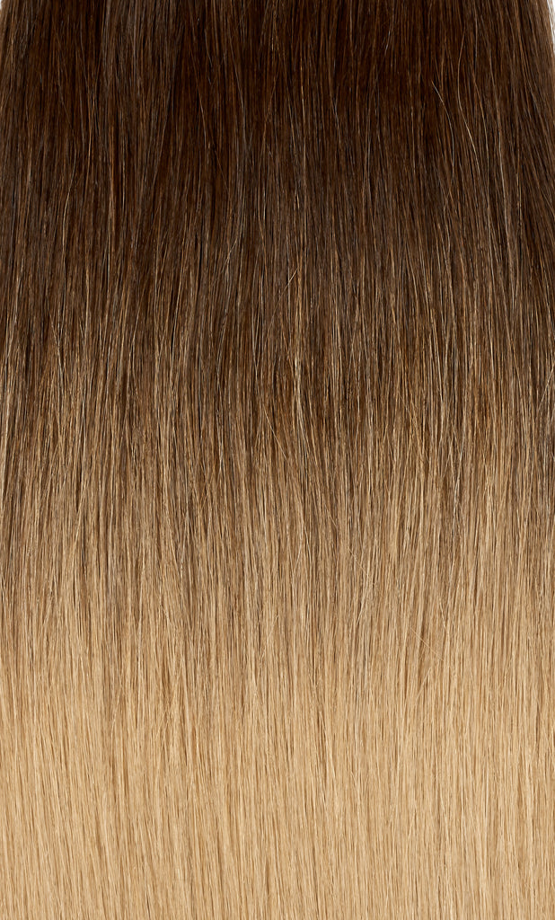 "Ombre - Dark Brown (#2) to Ash Brown (#9) 20"" Tape"