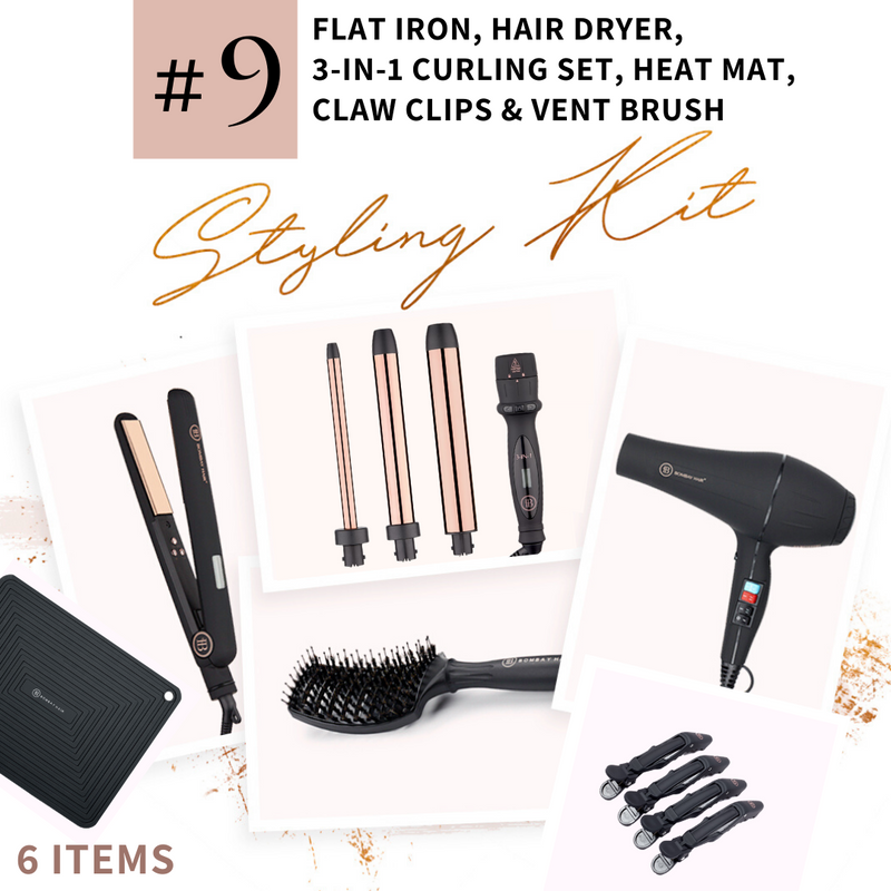 Styling Kit (#9)- Ships May 29 - BOMBAY HAIR  - Styling Kit