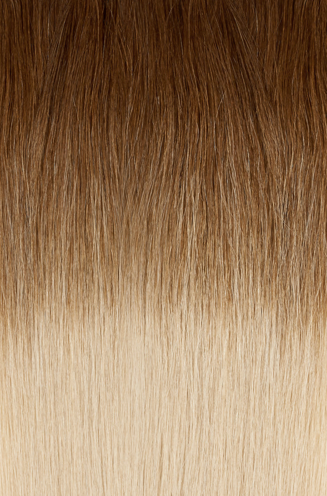 OMBRE - CARAMEL BROWN (#4) TO DIRTY BLONDE (#18B) 22""
